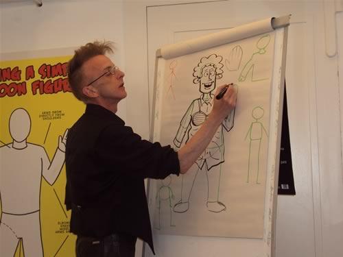 họa sĩ vẽ tranh biếm họa