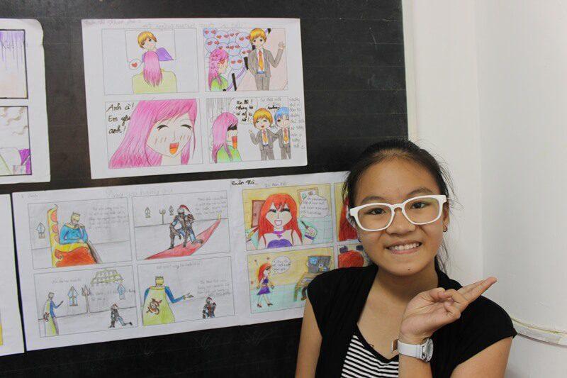 học vẽ truyện tranh thiếu nhi Khánh Bảo