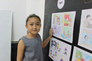 học vẽ truyện tranh thiếu nhi Mai Phương