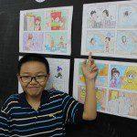học vẽ truyện tranh thiếu nhi Nam Anh
