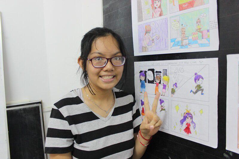 học vẽ truyện tranh thiếu nhi Thủy Anh