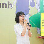 học viên khóa 3 Lê Huỳnh Kim Yến chia sẻ tại Lễ khai giảng Viện Truyện tranh và Hoạt hình 1