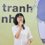 học viên khóa 3 Lê Huỳnh Kim Yến chia sẻ tại Lễ khai giảng Viện Truyện tranh và Hoạt hình