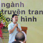học viên khóa 3 Phan Thanh Sang chia sẻ tại Lễ khai giảng Viện Truyện tranh và Hoạt hình