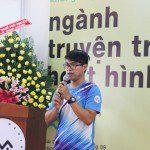 học viên khóa 5 Nguyễn Thanh Triều chia sẻ tại Lễ khai giảng Viện Truyện tranh và Hoạt hình