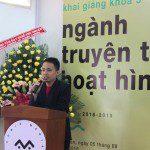 Thạc sĩ Họa sĩ Lê Thắng chia sẻ tại lễ khai giảng Viện Truyện tranh và Hoạt hình 1