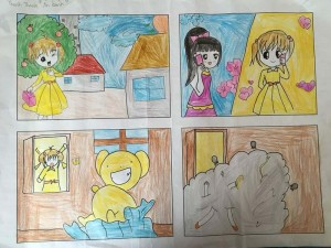 tranh vẽ cuối khóa manga comics của Thanh Thanh