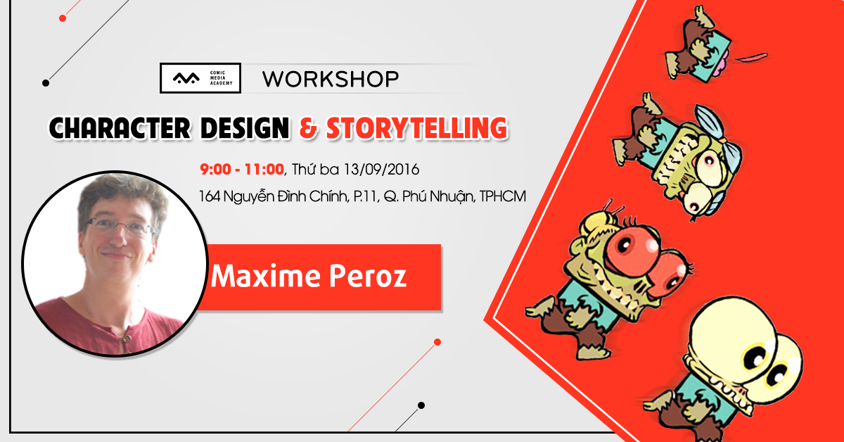 workshop character design and storytelling