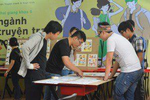 triển lãm cuối khóa lớp vẽ truyện tranh cấp tốc khóa 3 16