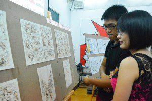 triển lãm cuối khóa lớp vẽ truyện tranh cấp tốc khóa 3 2