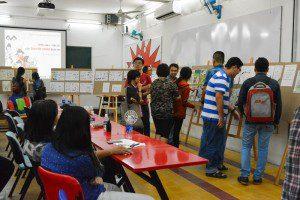 triển lãm cuối khóa lớp vẽ truyện tranh cấp tốc khóa 3 5