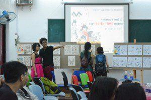 triển lãm cuối khóa lớp vẽ truyện tranh cấp tốc khóa 3 6