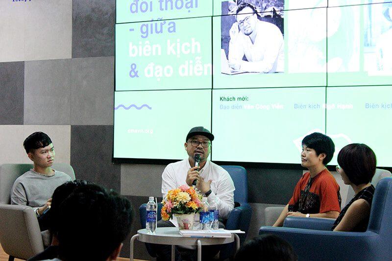 Đạo diễn Văn Công Viễn chia sẻ trong talk Đối thoại giữa Biên kịch và Đạo diễn