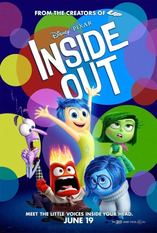 Phim hoạt hình Inside Out đã giành được giải Oscars năm 2016
