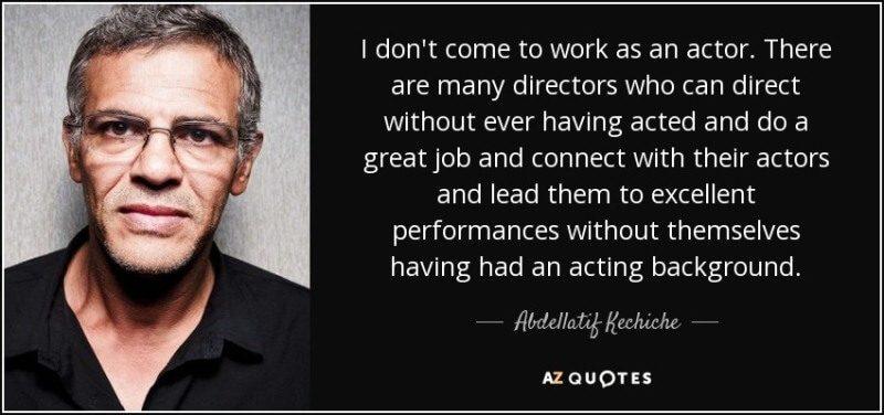 Chia sẻ về nghề của biên kịch đạo diễn Abdellatif Kechiche