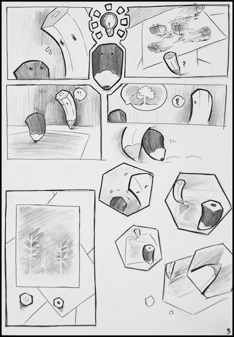 Truyện tranh Bút Chì Trắng 3