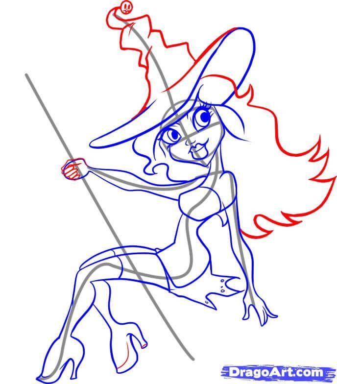 Vẽ chi tiết phù thủy