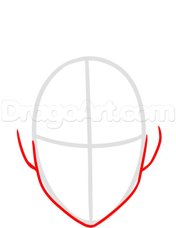 Vẽ Eren hình dạng khuôn mặt