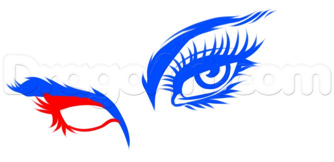 Vẽ mắt comic hình dạng mắt thực tế
