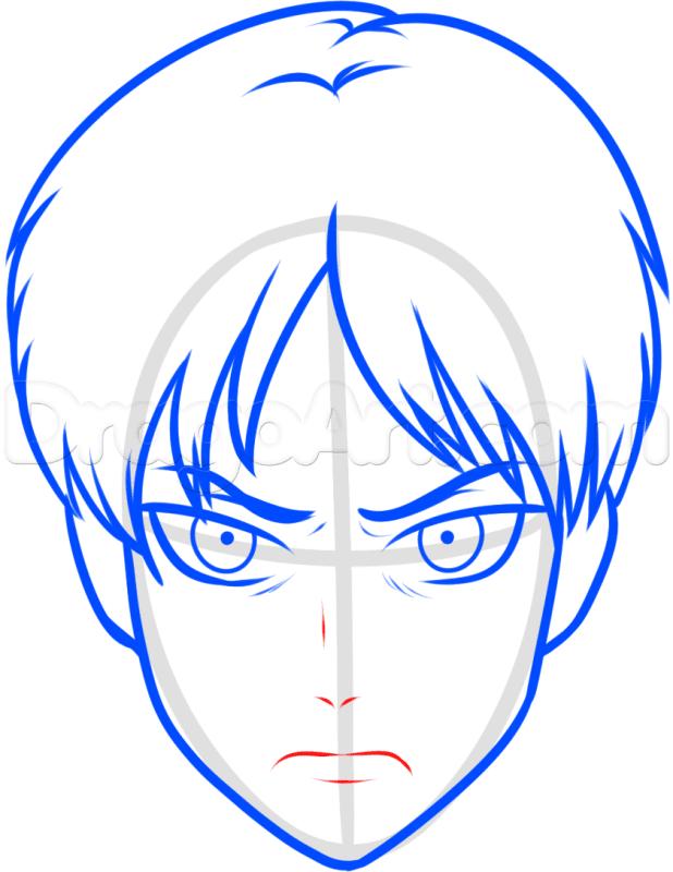 Vẽ mũi và miệng Eren