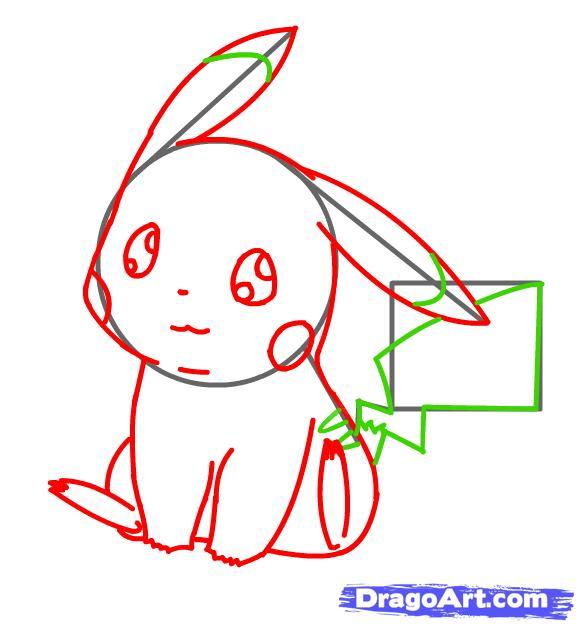Vẽ Pikachu chi tiết
