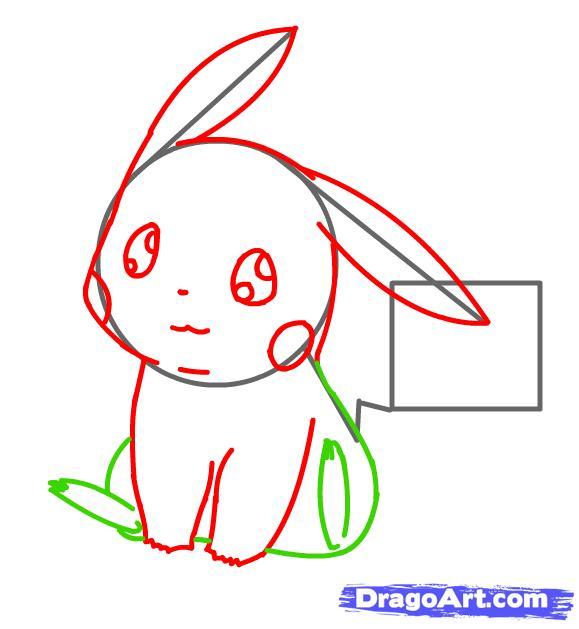 Vẽ thân hình Pikachu