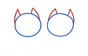 Cách vẽ đôi mèo đáng yêu dịp Valentine 2