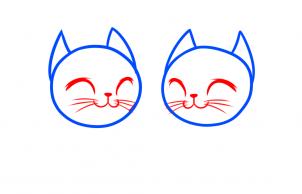 Cách vẽ đôi mèo đáng yêu dịp Valentine 3