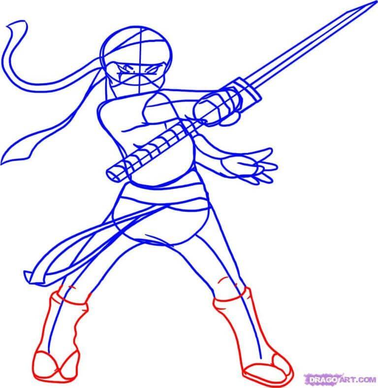 Dễ dàng học vẽ chiến binh Ninja chỉ trong 6 bước 6