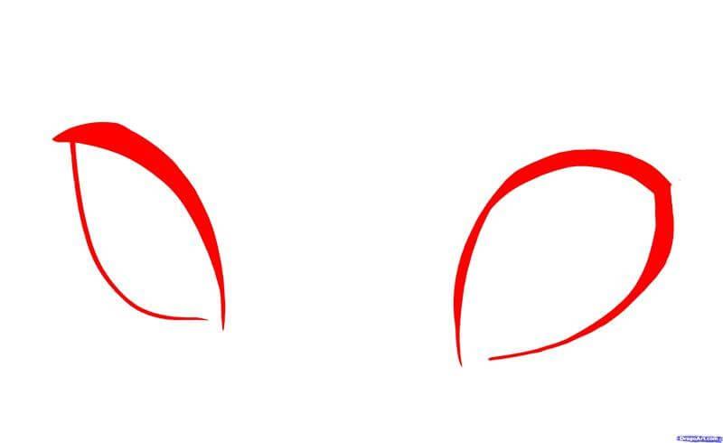 Hình dạng cơ bản vẽ mắt anime