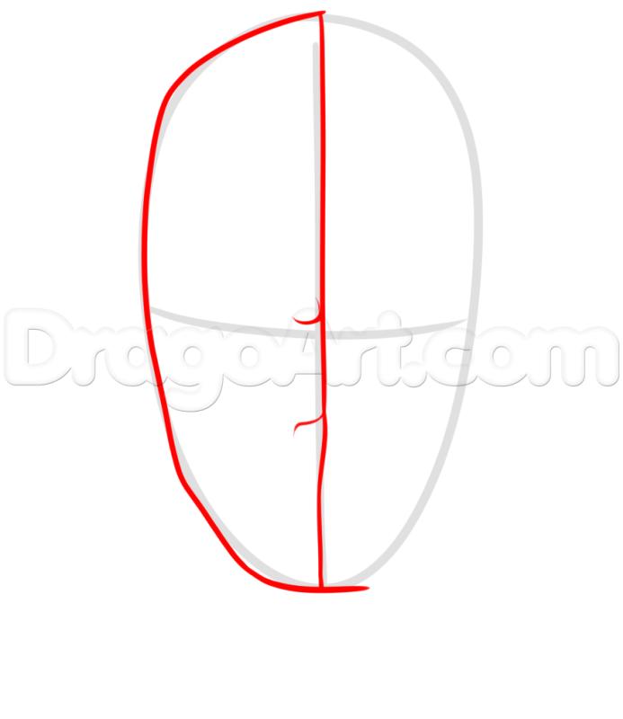 Phác họa khuôn mặt Deadpool