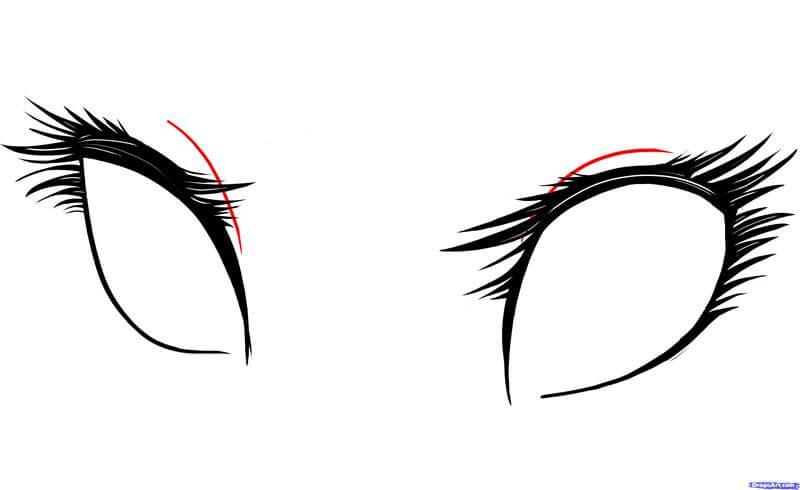 Vẽ chi tiết đôi mắt anime