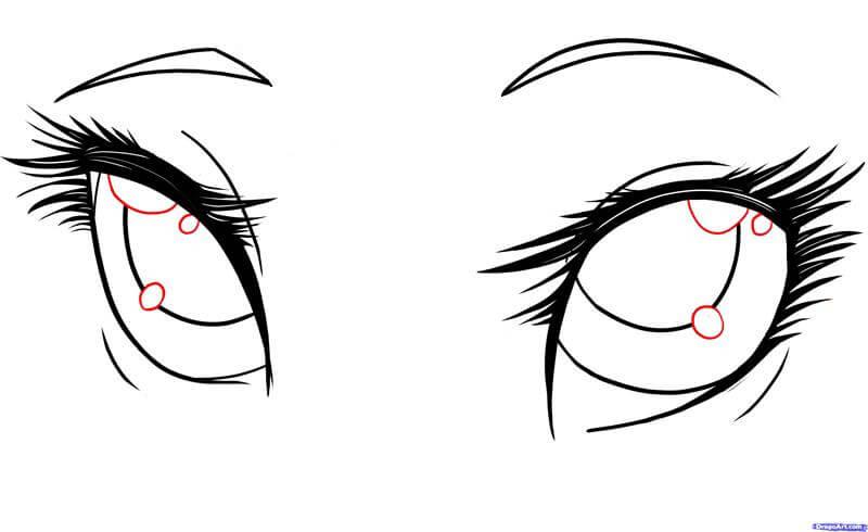 Vẽ đôi mắt anime long lanh