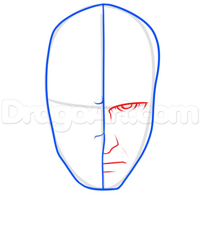 Vẽ khuôn mặt deadpool