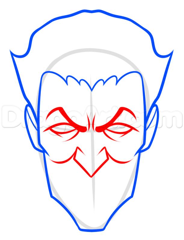 Vẽ khuôn mặt Joker