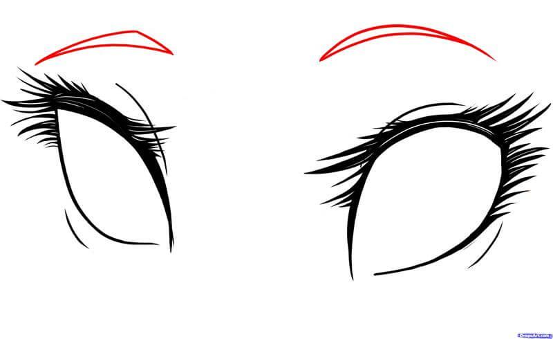 Vẽ lông mày mắt anime