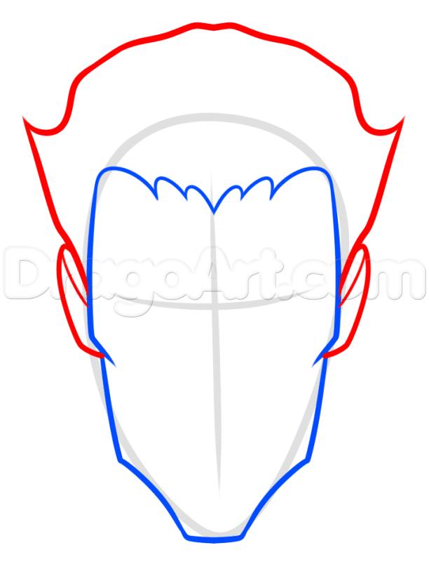 Vẽ mái tóc Joker