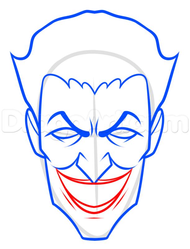 Vẽ miệng Joker