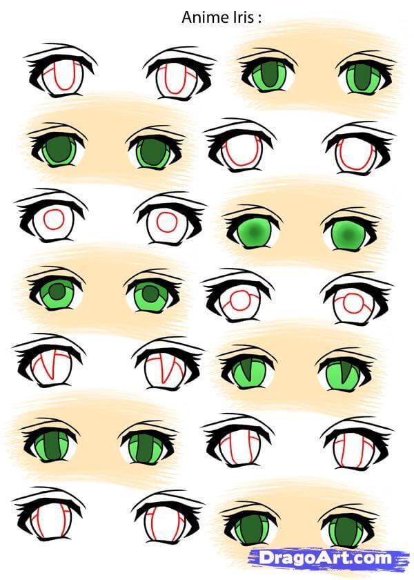 Vẽ mống mắt anime