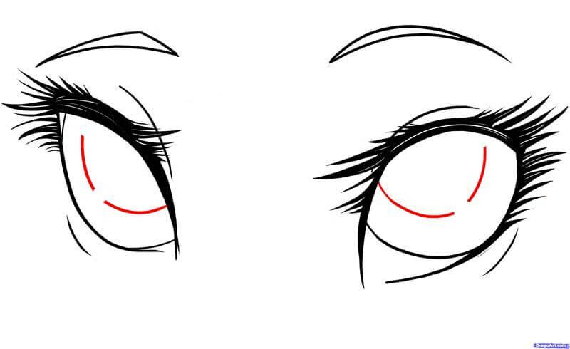 Vẽ phần chính mống mắt anime