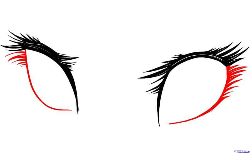 Vẽ phần dưới lông mi anime