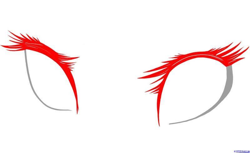 Vẽ phần lông mi anime
