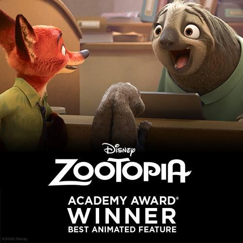 Zootopia Phim hoạt hình xuất sắc nhất Oscars 2017