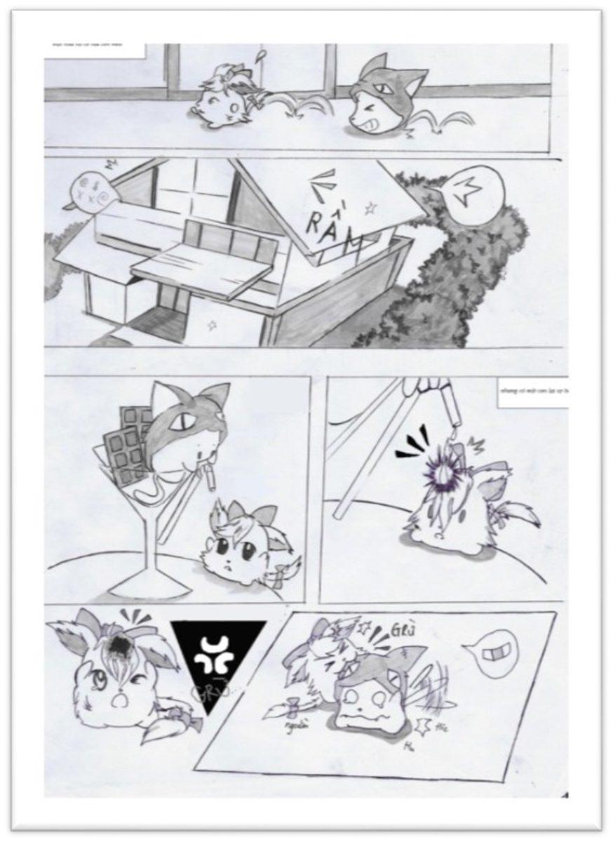 đồ án truyện tranh Meo Meo 01