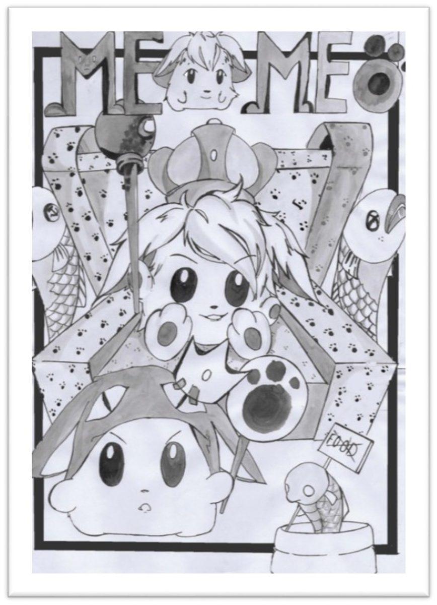 đồ án truyện tranh Meo Meo trang bìa