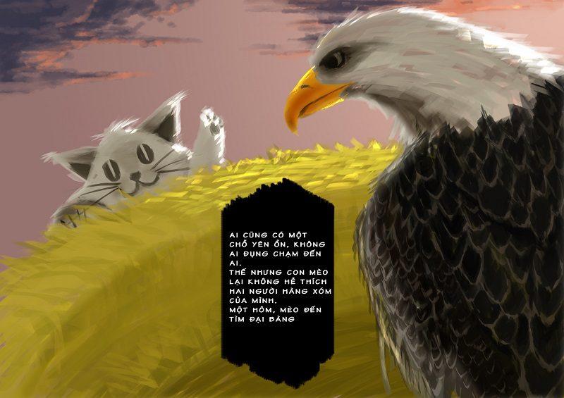 Học Digital Painting minh hoạ Con Mèo Hàng Xóm