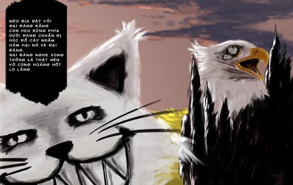 Tranh minh hoạ Digital Painting – Con Mèo Hàng Xóm