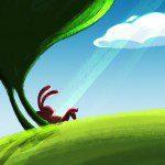 học digital painting minh họa rùa và thỏ