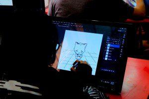Học viên ngành hoạt hình CMA thực hiện bài vẽ trên máy 3