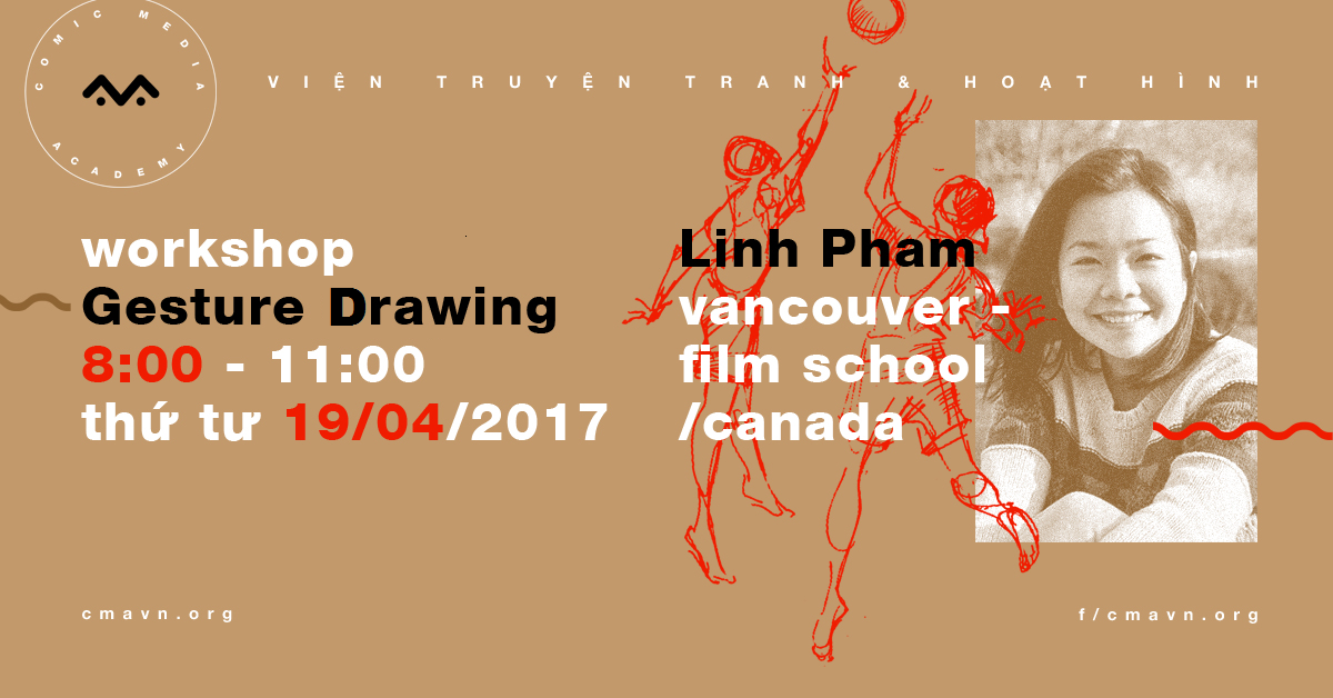 Workshop Gesture Drawing by Linh Pham Vancouver Film School Canada